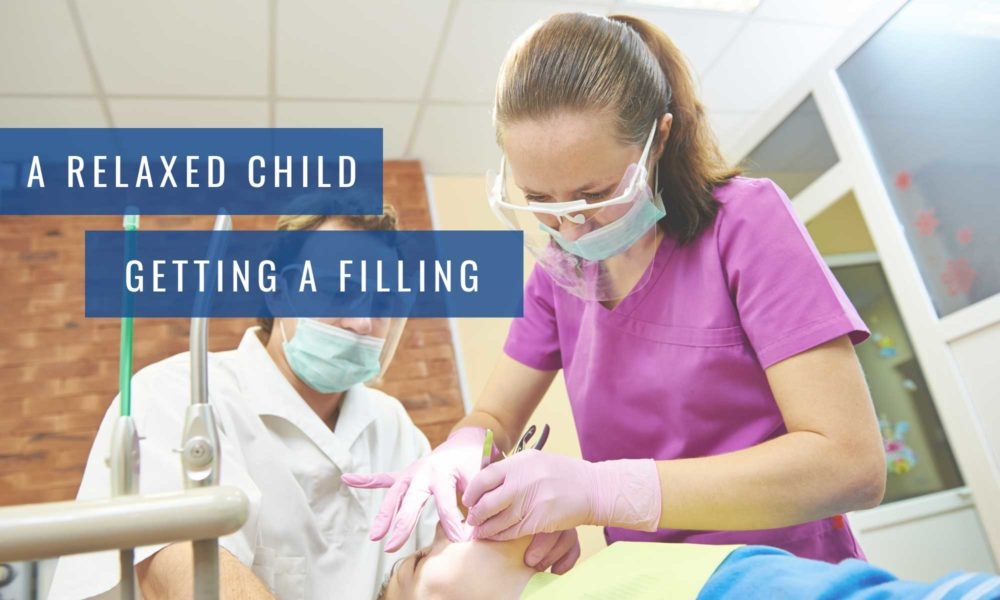A-relaxed child getting a filling at Lambton Family Dental