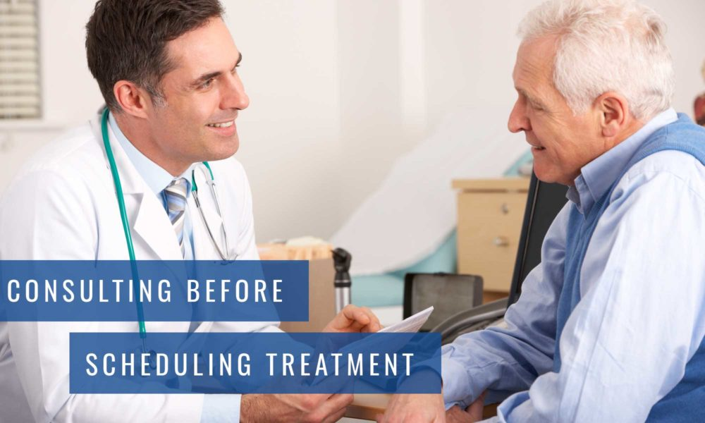 Consulting before scheduling treatment Lambton Family Dental