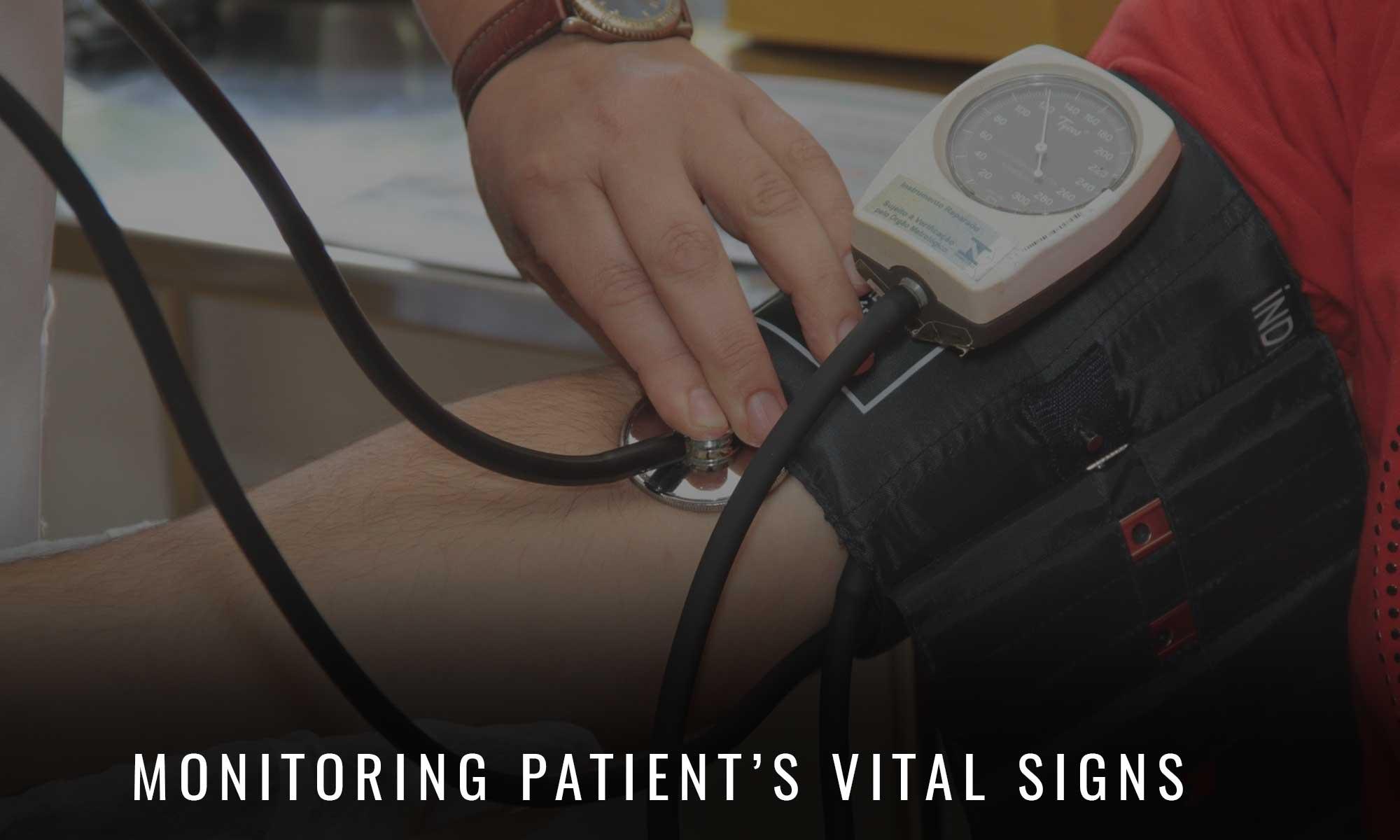 Monitoring patient vital signs at Lambton Family Dental