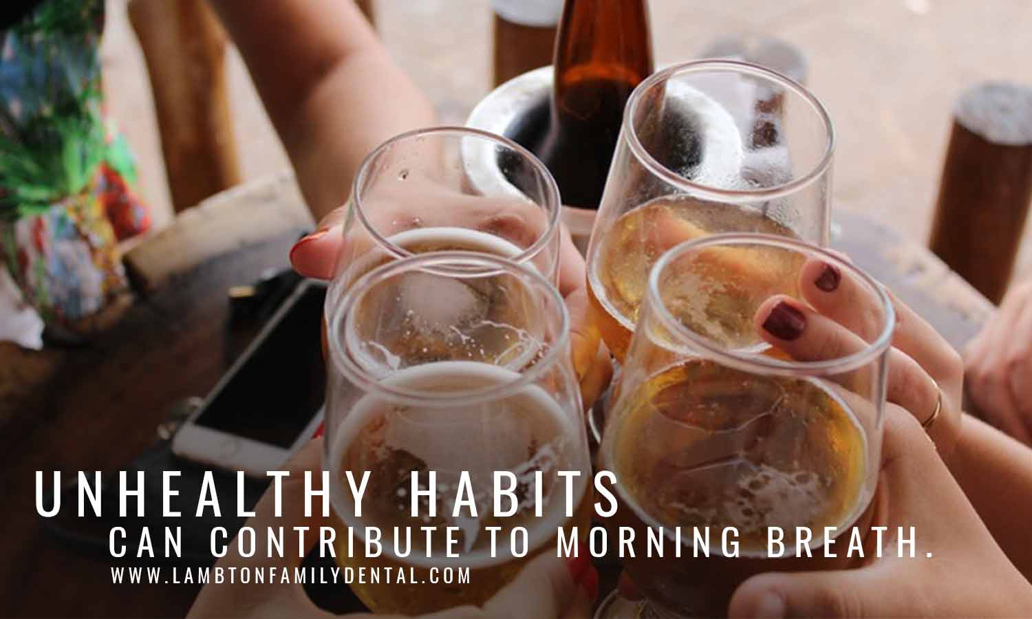 Unhealthy habits can contribute to morning breath