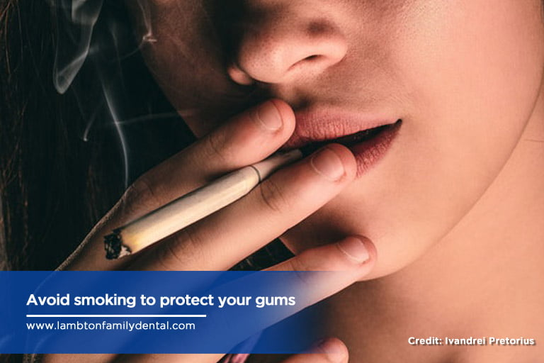 Avoid smoking to protect your gums