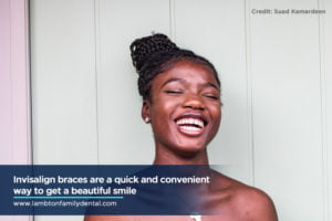 Invisalign braces are a quick and convenient