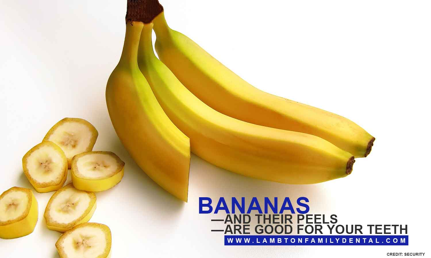 Bananas—and their peels—are good for your teeth