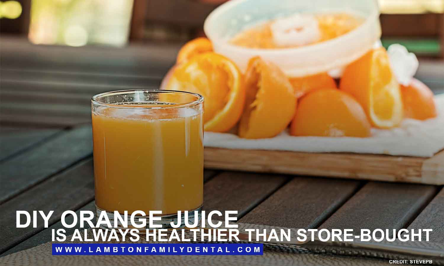 DIY orange juice is always healthier than store-bought