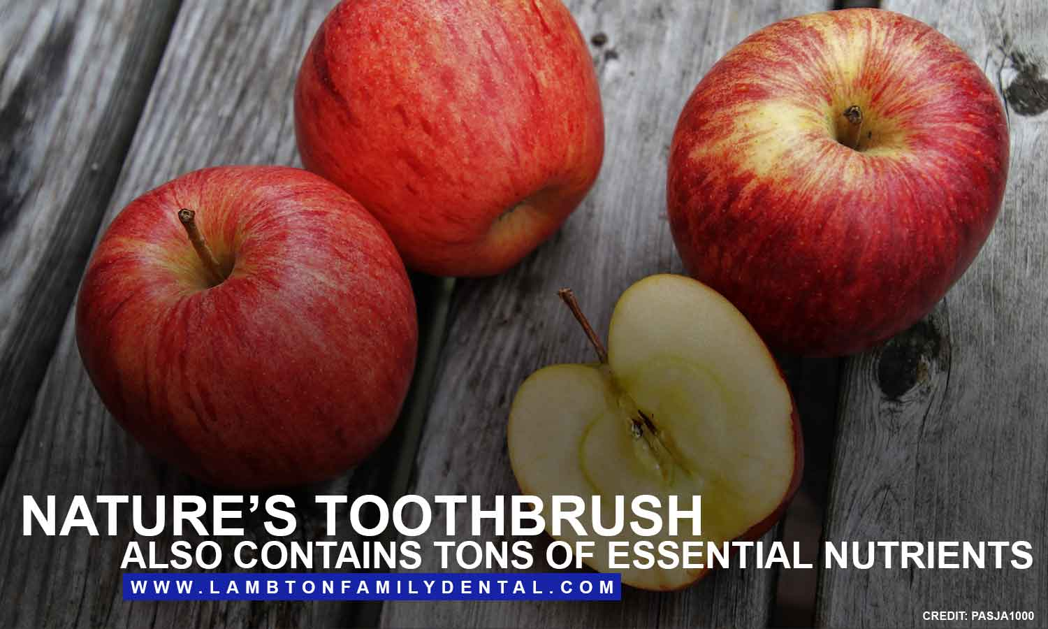 Nature's toothbrush also contains tons of essential nutrients