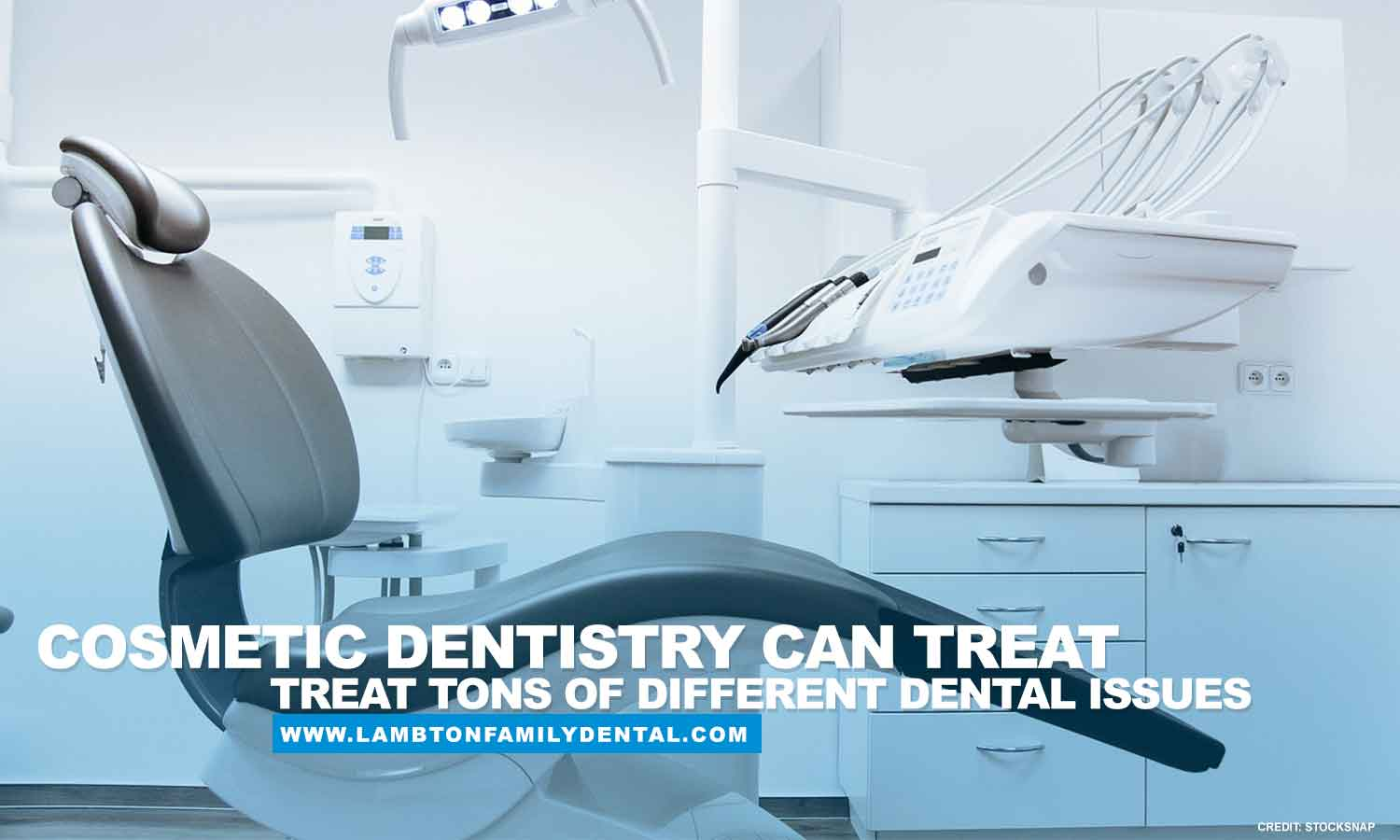 Cosmetic dentistry can treat tons of different dental issues