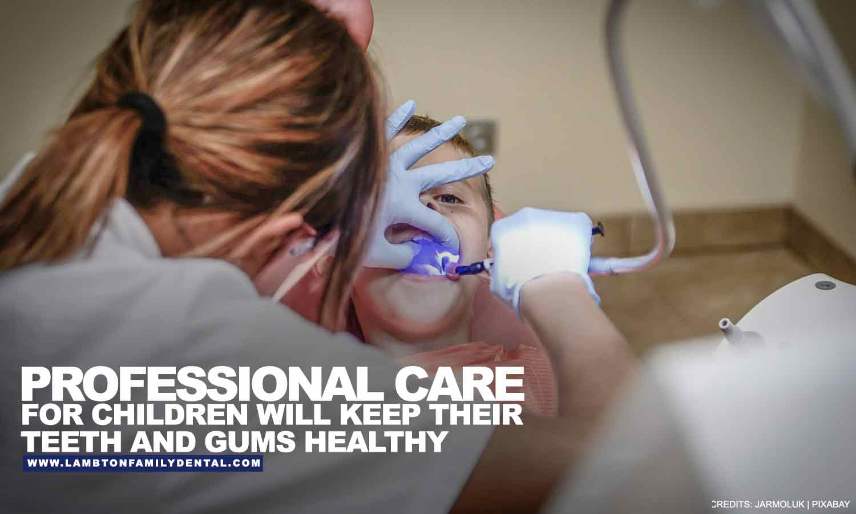 Professional care for children