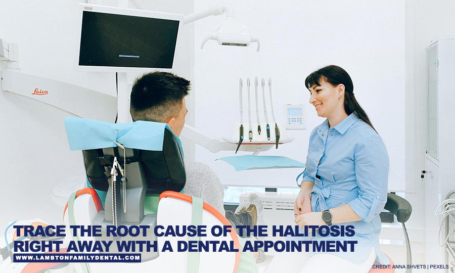 Trace the root cause of the halitosis right away with a dental appointment