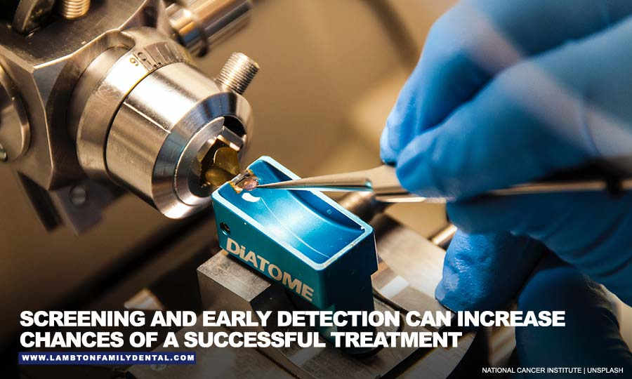 Screening and early detection can increase chances of a successful treatment